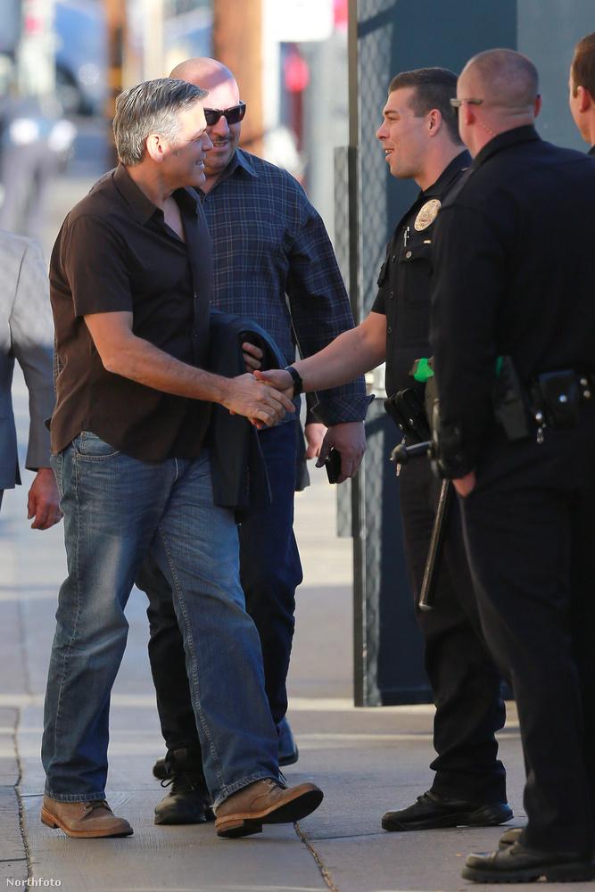 A színész az új malacát magával vitte Jimmy Kimmel Live! műsorába