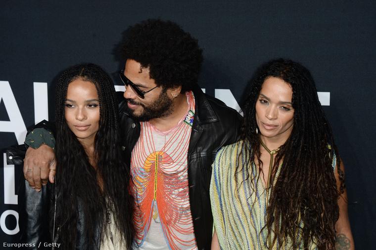 Lenny Kravitz családosat játszott Lisa Bonet-val és lányával, Zoe Kravitz-cel