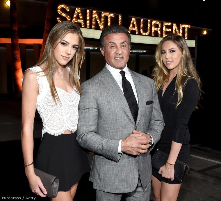 Ó igen, Sylvester Stallonénak vannak lányai