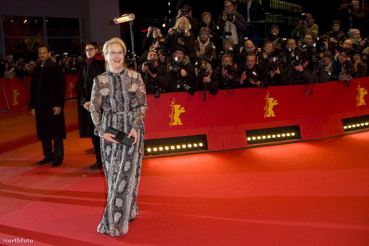 A csodálatos Meryl Streep a zsűri elnöke, ezúttal egy mintás zsákban ment vörösszőnyegezni.