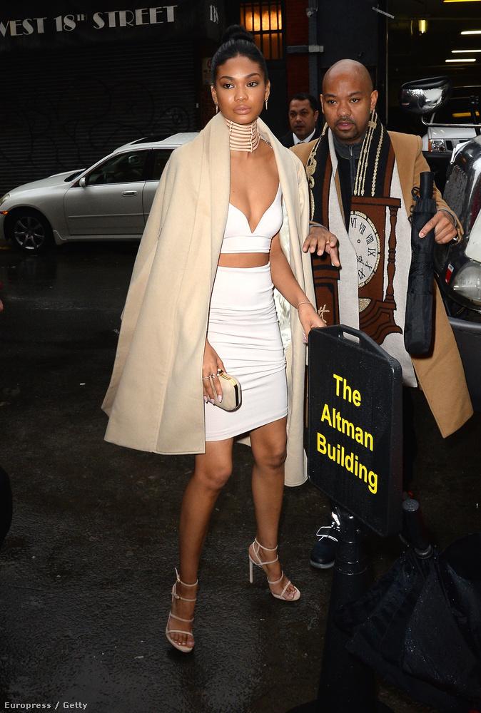 Chanel Iman különösen rosszul bírta a hideget.
