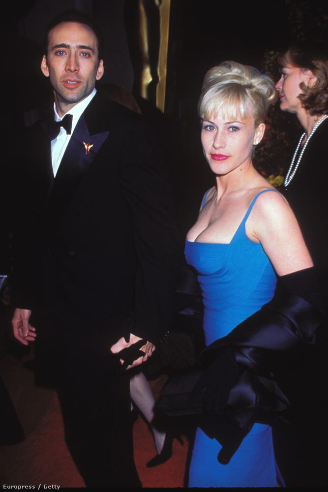 Nicolas Cage és Patricia Arquette itt már éppen házasok voltak (1995–2001 között tartott a frigyük)
