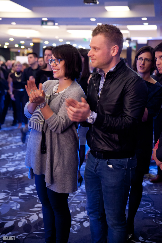 A miniszterelnök lánya, Orbán Ráhel szintén férjével, Tiborcz Istvánnal vett részt a díjátadón - feltehetően azért, mert anyja, Lévai Anikó adta át az egyik díjat.