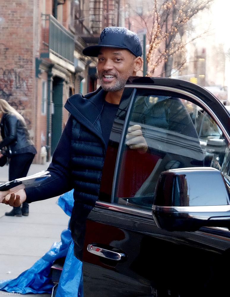 Will Smitht ugyanezen a forgatáson az Oscar másnapján fotózták le, nem látszott rajta,