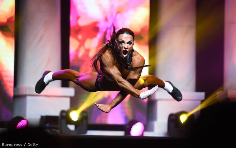 A fitnesz kategóriában Oksana Grishina lett az első