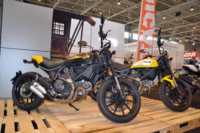 A scrambler 2016 slágere, így egy kiállítás nem is kiállítás Ducati Scrambler nélkül.