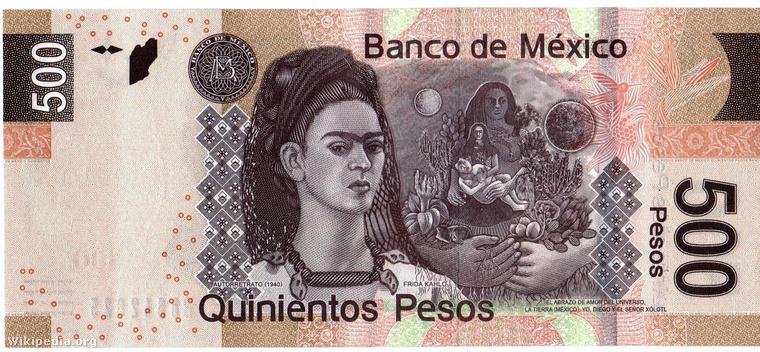 Egy festmény is látható az új mexikói ötszázason, de nem is ez önmagában az izgalmas benne