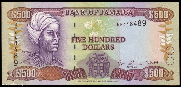 Jamaikán is dollár van, ilyen az ötszázas