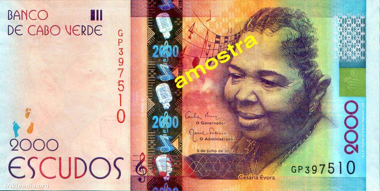 A Zöld-foki köztársaság a kétezer escudós bankjeggyel került be ebbe az összeállításba