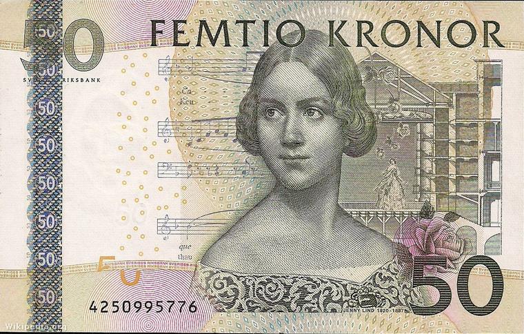 Még egy svéd pénz – ez az ötvenes