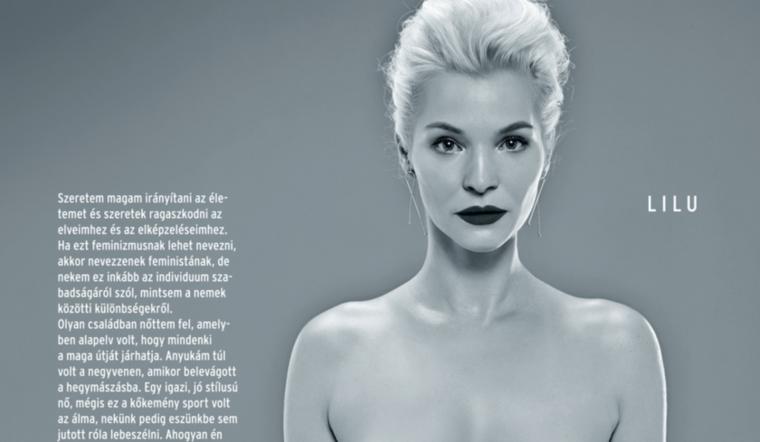 Lilu az Elle magazinban vetkőzött le, hogy így üzenje, mindenki vállalja őszintén magát és a testét