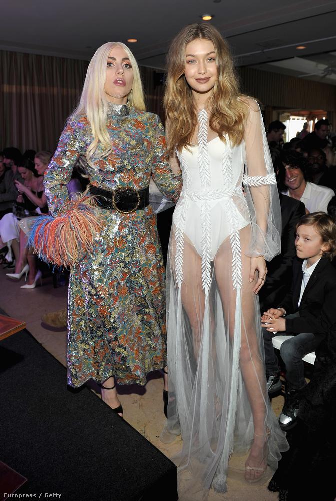 A hálóinges Hadid és egy Lady Gaga