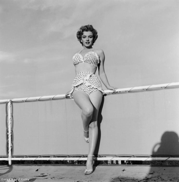 Ha pöttyök,akkor nem hagyhatjuk szó nélkül Marilyn Monroe mesés bikinijét