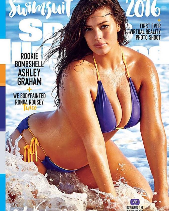 Legutóbb nem is ez a lila bikini, hanem maga a tény, hogy egy plus size modell van a Sports Illustrated címlapján, az keltett nagy visszhangot.Mi nem látjuk ebben a hibát.Viszlát!