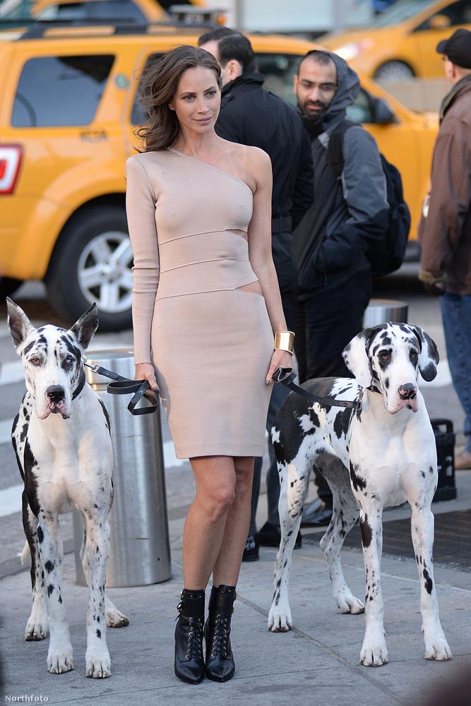 Christy Turlington, két mellbimbó, egy fotózás és két dán dog