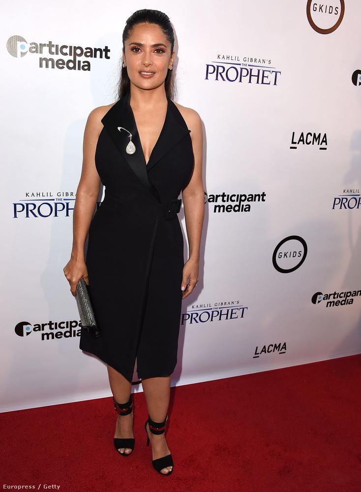 Salma Hayek 41 évesen szülte meg első és egyetlen gyerekét, Valentinát