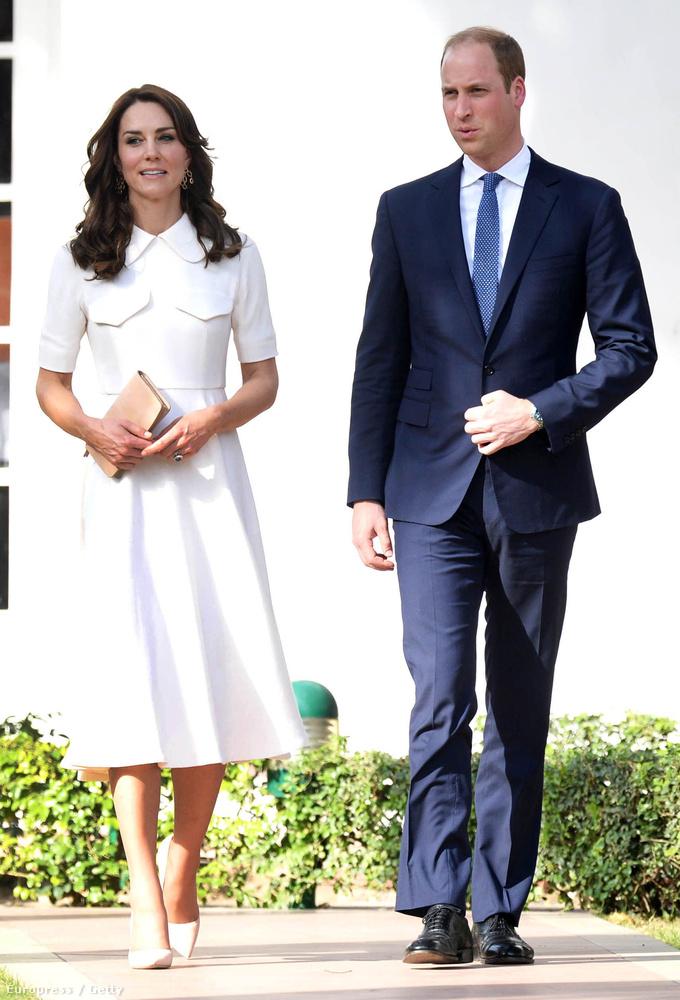 Katalin hercegné és férje, Vilmos herceg épp Indiában vannak.