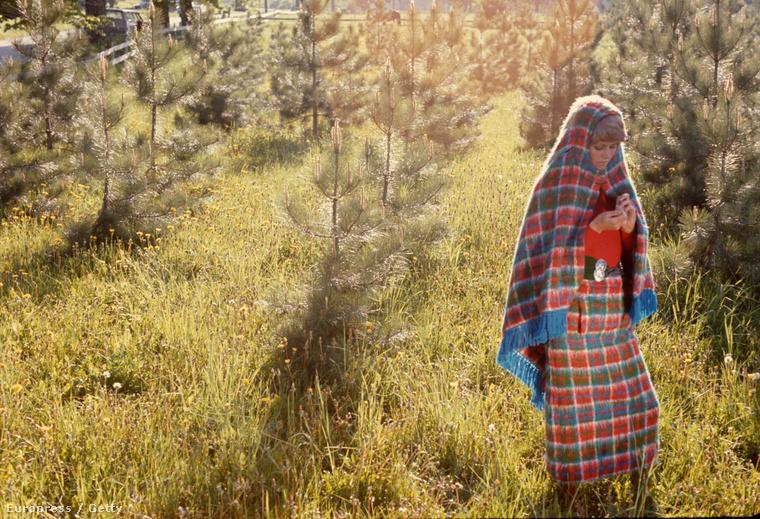 Alighanem kémnő-piknikre szánt alkalmi öltözet 1971-ből.