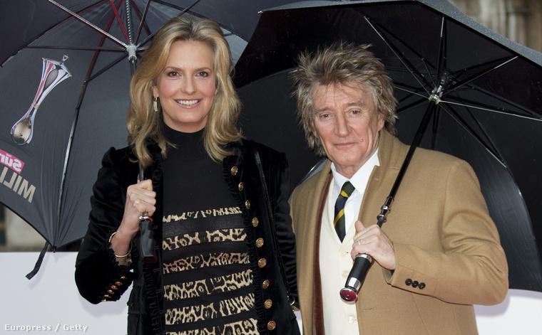 Még egy nagyon híres pár: Rod Stewart és Penny Lancaster