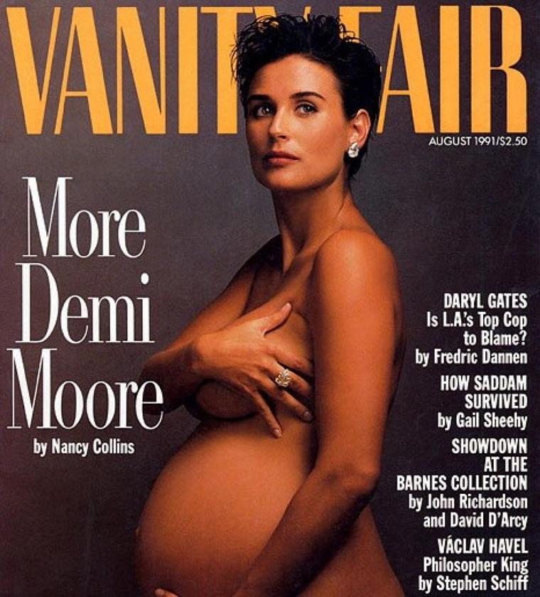 Sokat változott a világ azóta, hogy a várandós Demi Moore 1991 augusztusában meztelenül került a Vanity Fair címlapjára: mára teljesen megszokottnak számít, hogy sokat tudunk egy híresség terhességéről