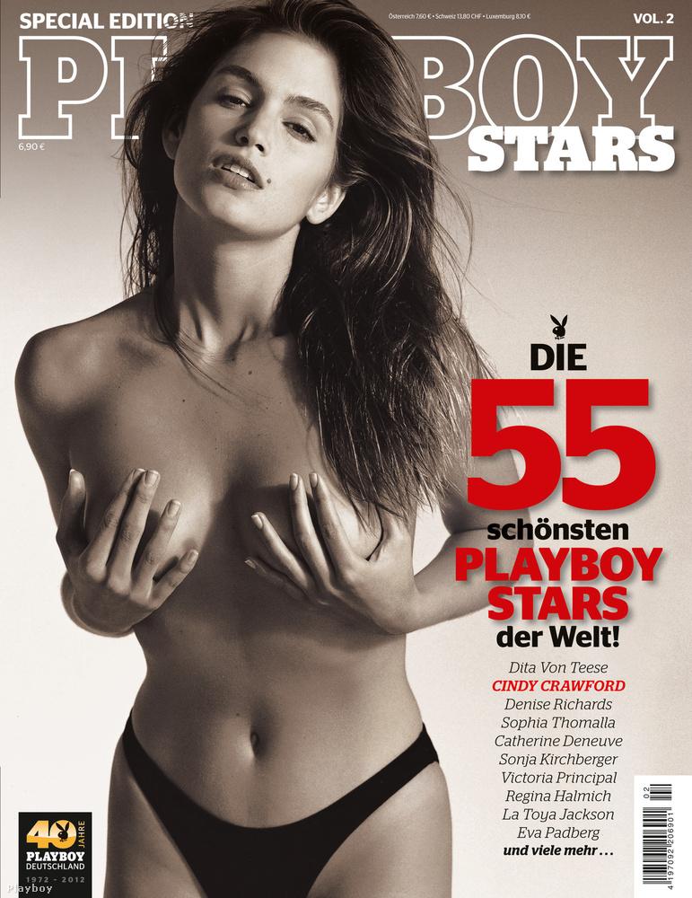 És végül nézze meg Cindy Crawfordot, akinek több Playboy-címlapja is volt