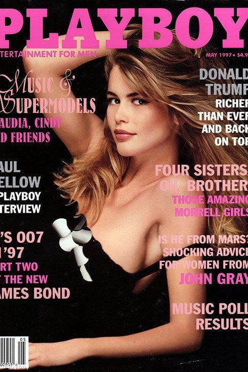 Ellenben Claudia Schifferrel, aki így nézett ki a Playboy címlapján 1997-ben