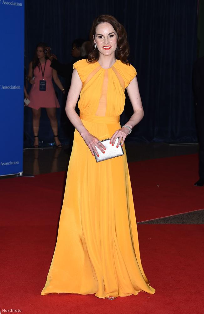 A gugli szerint ez egy Cushnie et Ochs ruha Michelle Dockeryn, aki ugye a Downton Abbey egyik főszereplője (volt)