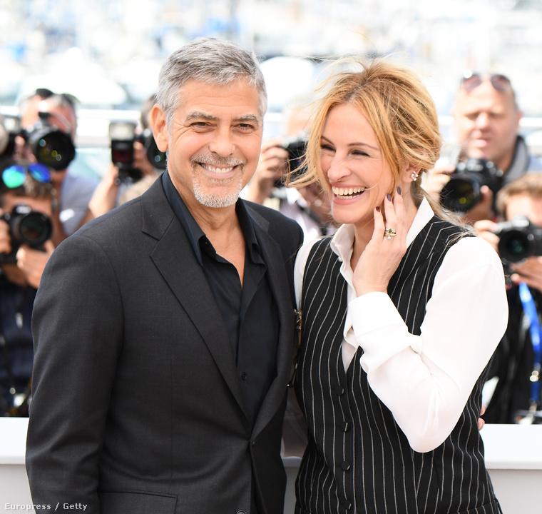 amikor Cannes-ban álltak modellt a fotósoknak új filmjük, a Pénzes cápa (az év eddigi legergyább magyar című filmje!) sajtóeseményén.