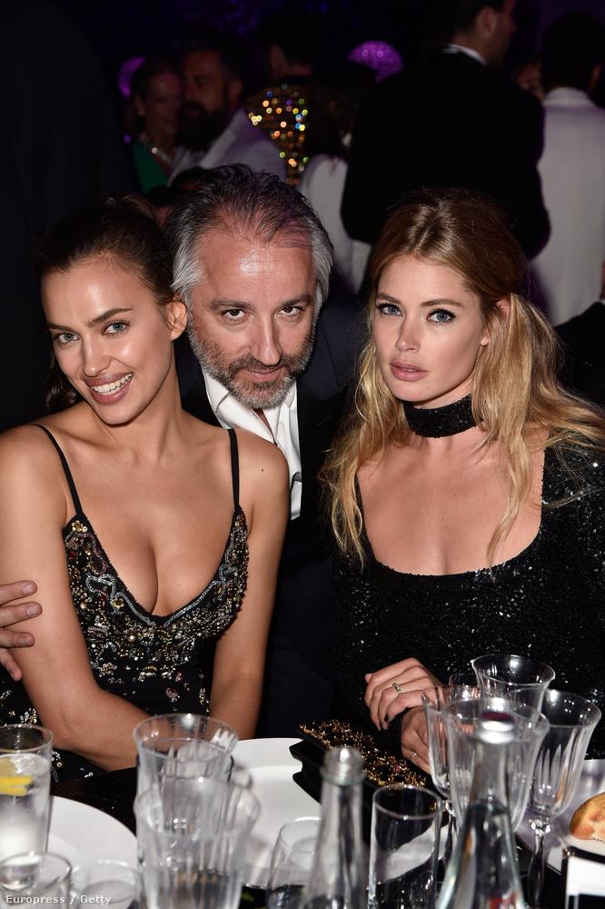 Irina Shayk és Doutzen Kroes modellek a L'Oréal-főnök Cyril Chapuynek örülnek ennyire.