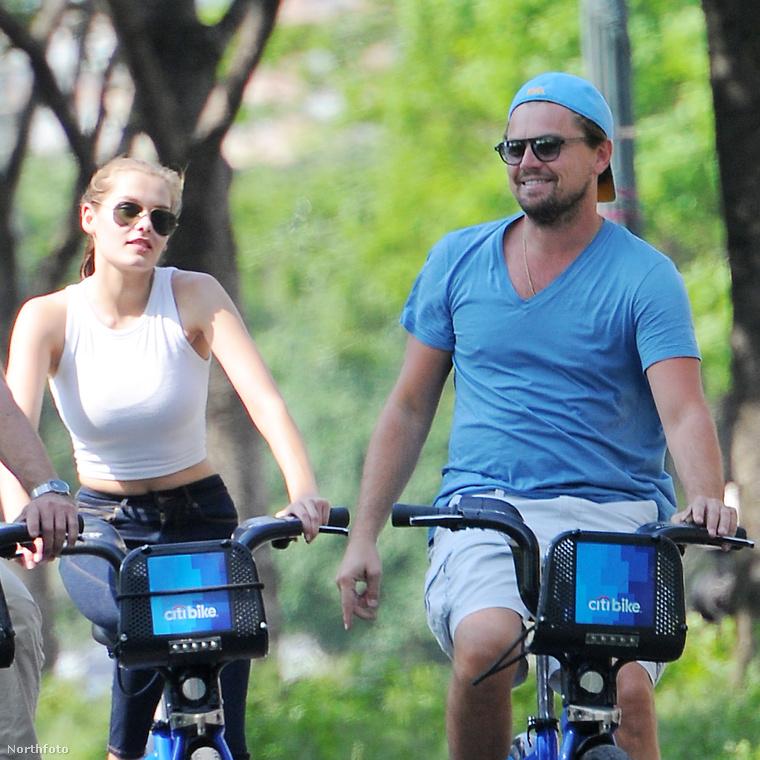 Most, hogy egyre jobb az idő, arra számítunk, hogy Leonardo DiCapriót sokszor láthatjuk biciklin
