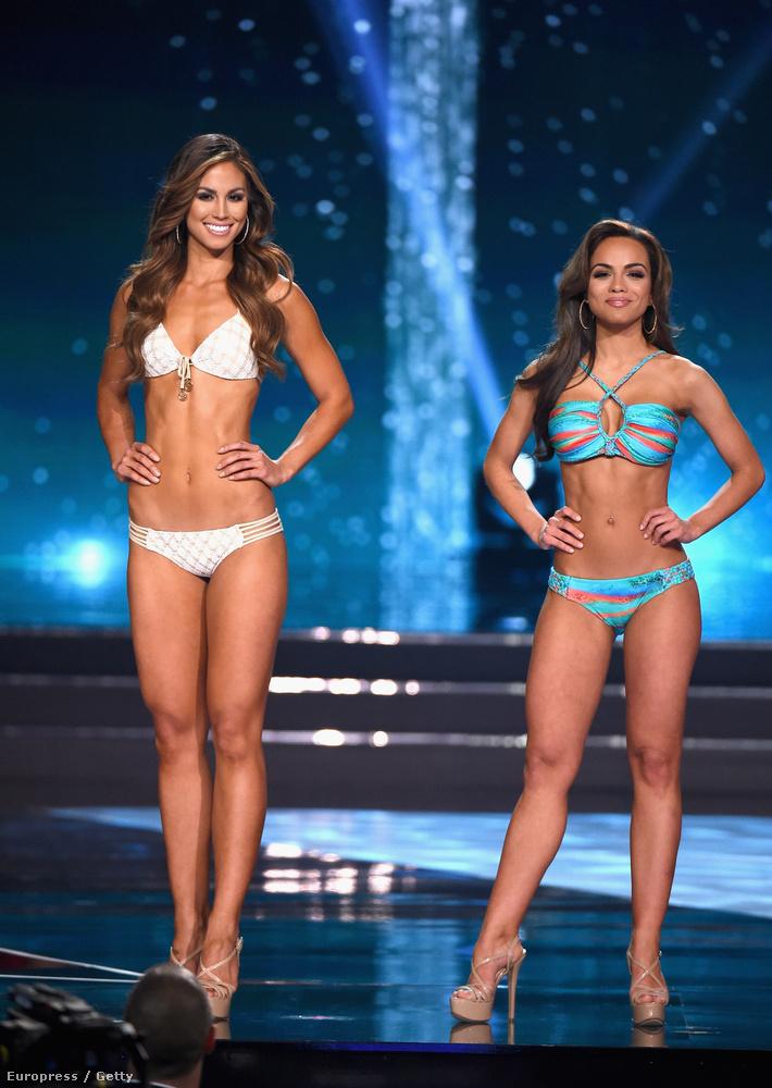 A második helyezett balra, és mellette Miss Connecticut
