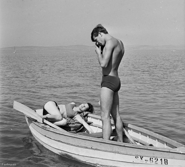 Művészi fotó készül épp, 1966-ban.