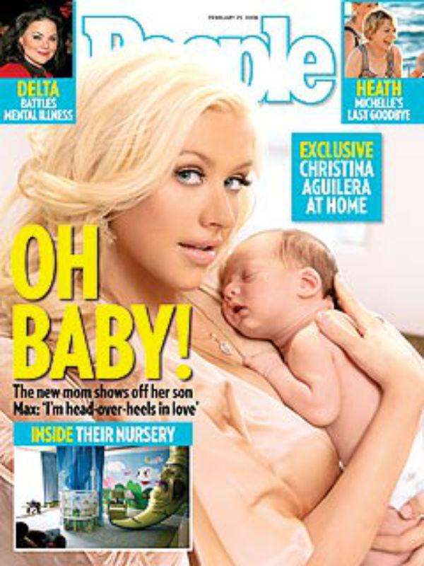 Az énekesnő szintén a People magazin címlapján szerepelt újszülött fiával, ezért pedig másfél millió dollárt kapott, vagyis  Nicole Richie pénzének másfélszeresét