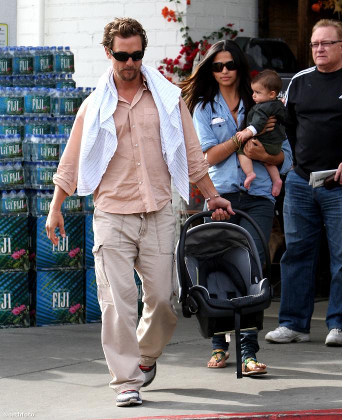 Matthew McConaughey és Camila Alves fia, Levi Alves McConaughey is 2008-ban született.