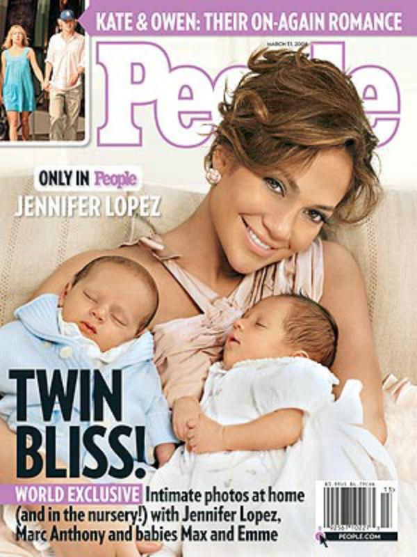 Lopez a gyerekeiről készült fotók jogait 6 millió dollárért, vagyis 1,7 milliárd forintért adta el