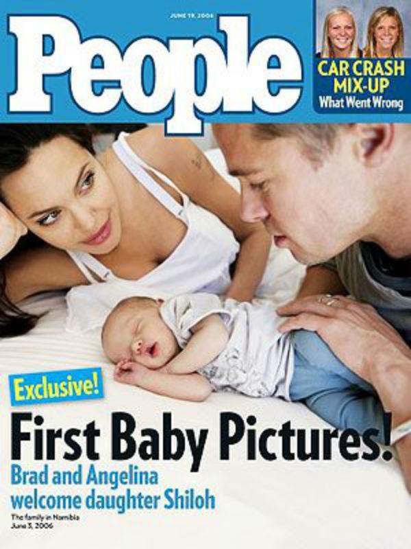 A Shilohról készült első fotókat az USA-ban a People magazinnak adták el 4,1 millió dollárért, az Egyesült Királyságban pedig a Hello! magazinnak, 3,5 millió dollárért, így összesen 7,6 millió dollárt, vagyis több mint 2 milliárd forintot kerestek a képekkel