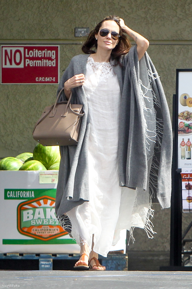 Az Oscar-djas színésznő pont úgy nézett ki, mint egy átlagos, hétköznapi nő, aki a férjével elment bevásárolni.