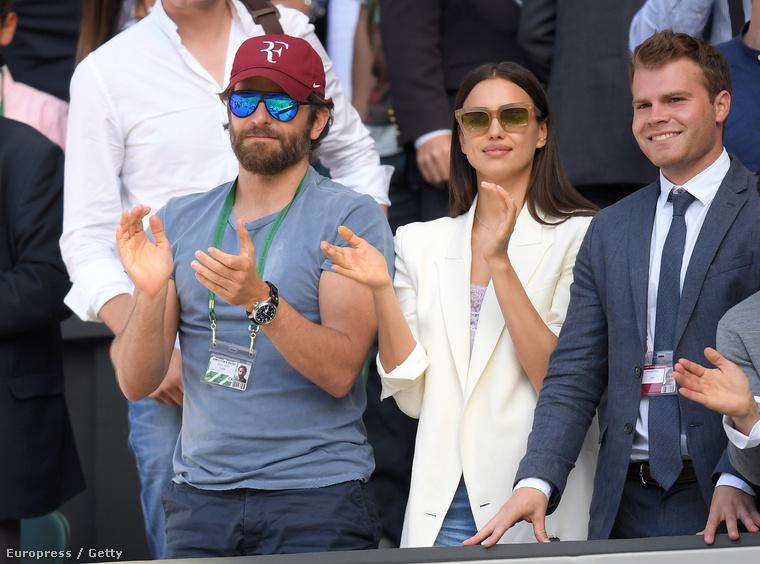 Ott volt Wimbledonban még Bradley Cooper és barátnője, Irina Shayk is.
