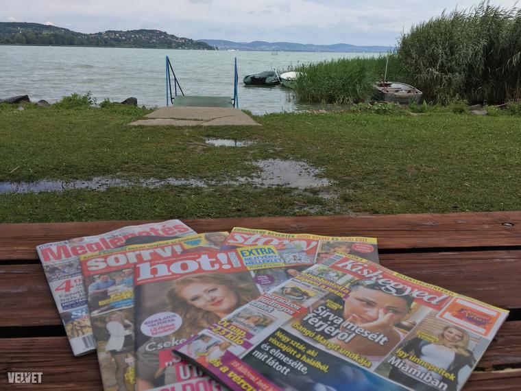 A parton henyélés elmaradhatatlan kellékei közé tartoznak a sajtóorgánumok ponyva-változatai, a könnyen emészthető bulvárlapok.