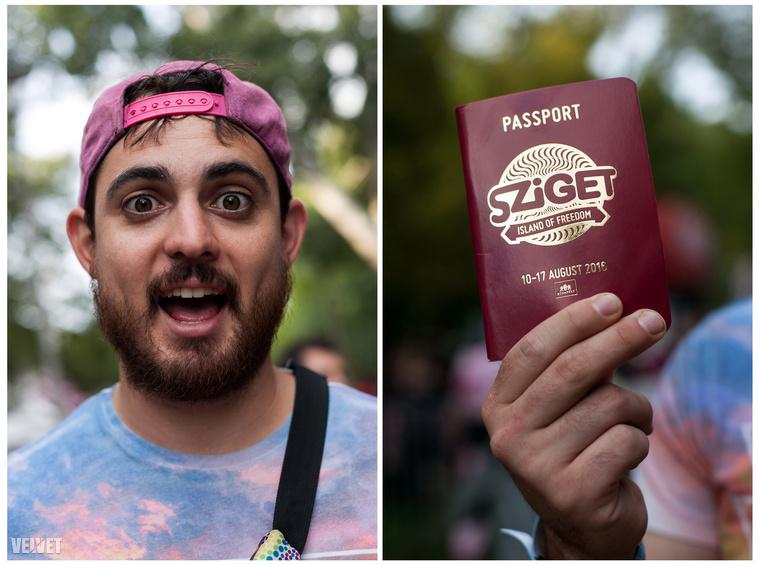 Nicholas ausztrál és van Szigetes útlevele, egy boldog ember, akinek a farzsebében az élete
