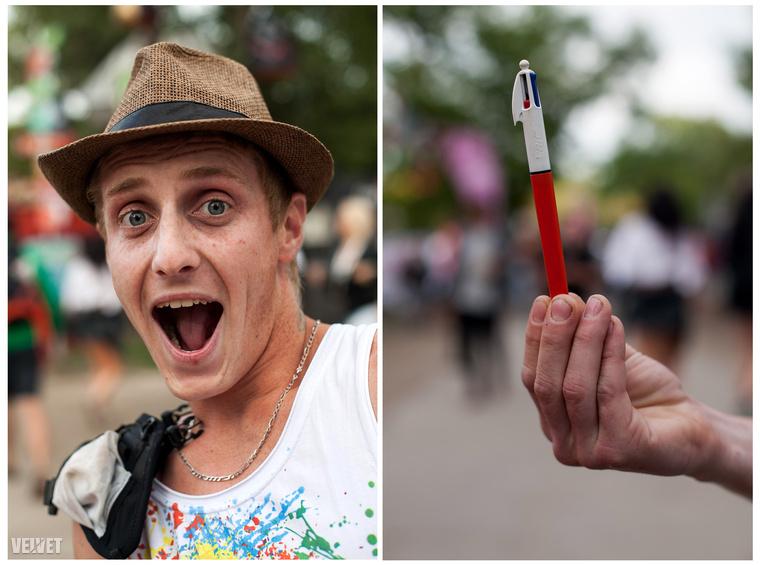 Francois-t nehezen győztük meg, hogy nyúljon a zsebébe, de aztán talált egy tollat