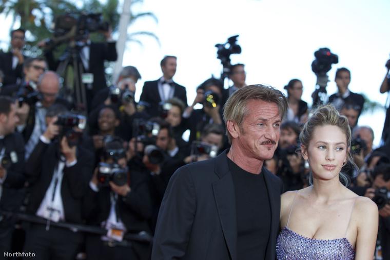 Sean Penn és Dylan Penn.                         A lány anyja, Robin Wright (a Forrest Gump Jennyje, a House of Cards Claire Underwoodja) nincs a képen