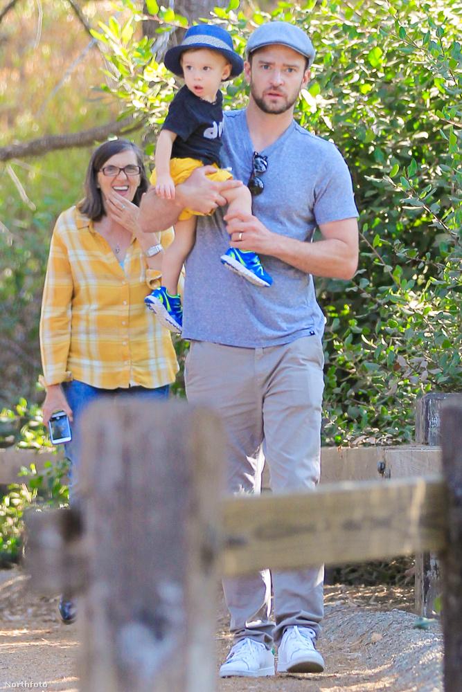 Justin Timberlake 2012-ben vette el Jessica Biel-t, az anyuka erre a napra kimenőt kapott.