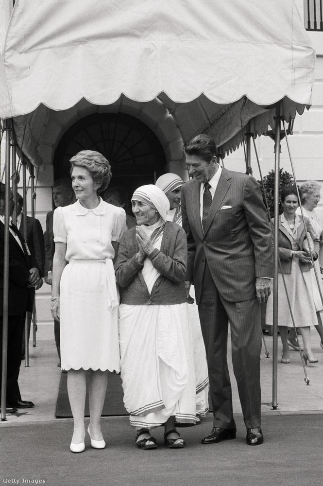 De Reaganék is vendégül látták őt a Fehért Házban.