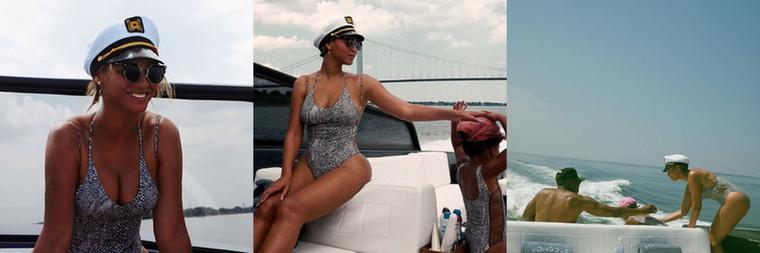 A nemrég harmincötödik szülinapját betöltő Beyoncé Jay Z-vel és Blue Ivy-val ült fel egy luxusyachtra