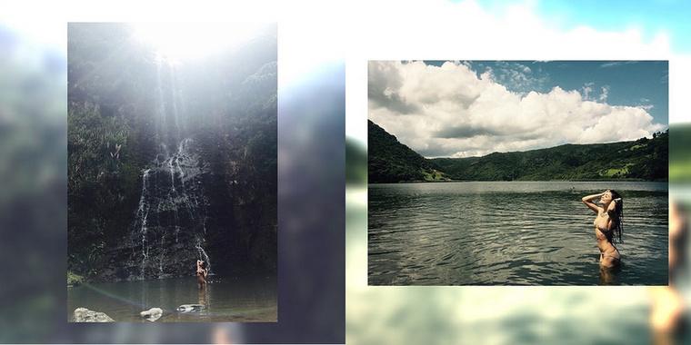 Vanessa Hudgens Új-Zélandra ment, hogy egy vízeséssel és egy folyóval közelebbről is megismerkedhessen.