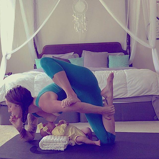 Carlee Benear szeret jógázni