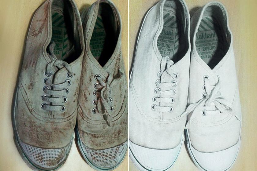Fehér cipő tisztítása Szépség és divat | Femina