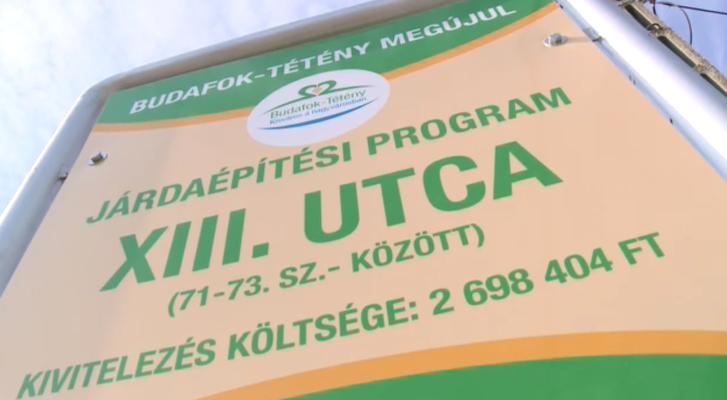 2,7 millió forintért épített 30 méter járdát a XXII. kerület