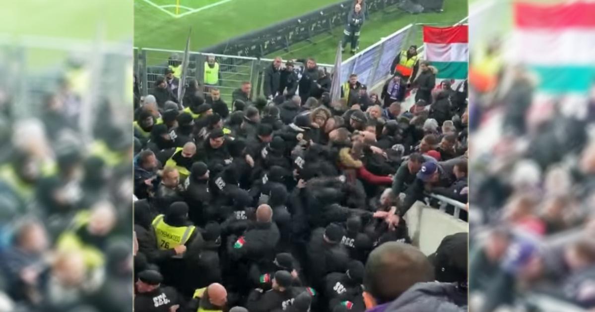 Index - Futball - Futball - Ököllel ütötték a biztonságiak az  Újpest-drukkereket a Vidi-stadionavatón 158b085255